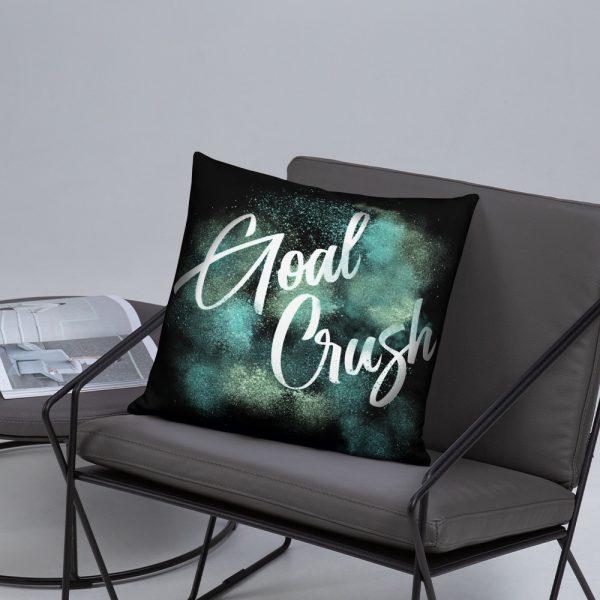 goal crush pillow