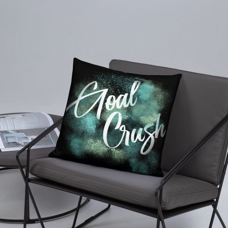 goal crush pillow